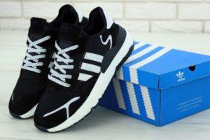 Adidas Nite Jogger черно-белые (40-44)