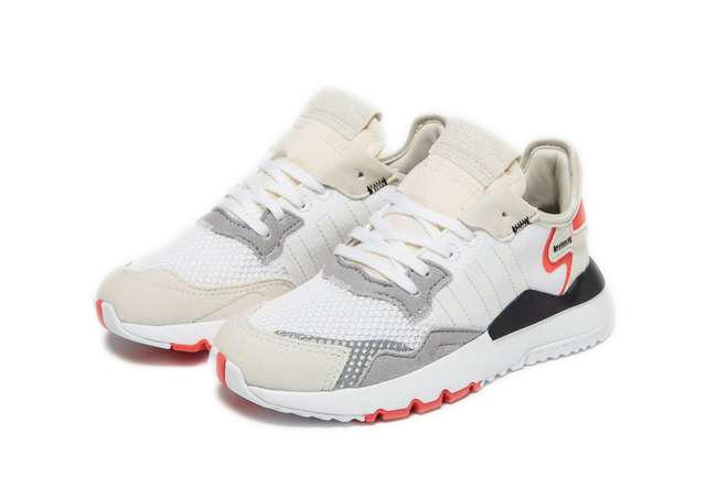 Adidas Nite Jogger серые с красным (40-44)