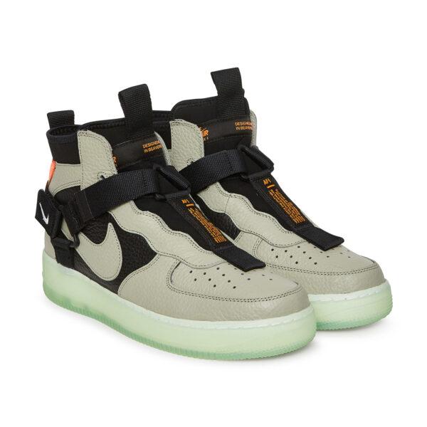 Nike Air Force 1  Utility Mid серые/чёрные (40-44)