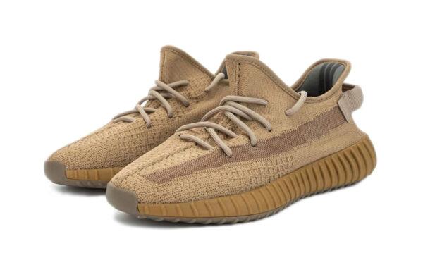 Adidas Yeezy Boost 350 V2 Static Earth коричневые мужские-женские (35-44)