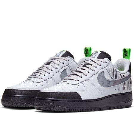 Nike Air Force 1 '07 LV8 бело-серые с черным (40-44)
