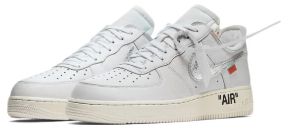 Nike Air Force 1 LV8 белые с серебристым (35-44)