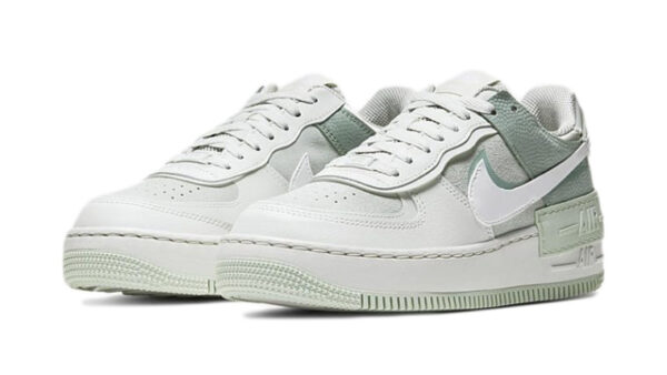 Nike Air Force 1 Shadow бело-серо-зелёные (35-39)