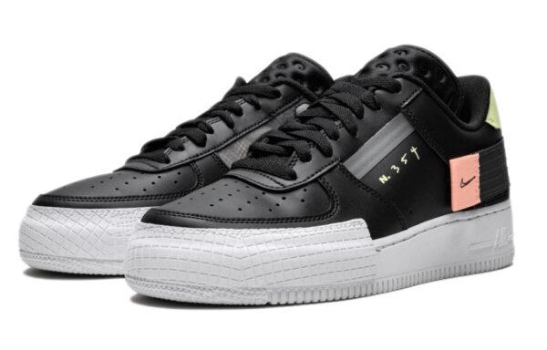 Nike Air Force 1 Type Low N. 354 черные (35-39)