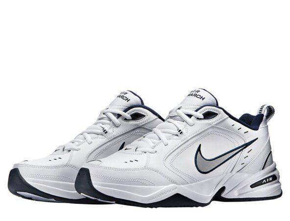 Nike Air Monarch белые с синим (40-44)