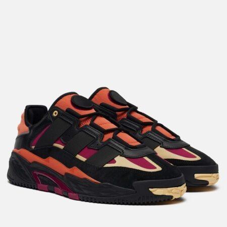 Adidas Niteball черно-оранжевые кожа-нубук мужские (40-44)