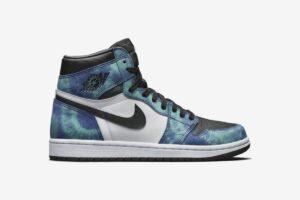 Nike Air Jordan 1 Retro High og Tie-Dye сине-бело-черные (35-44)