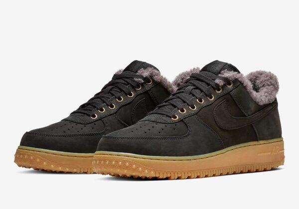 Зимние Nike Air Force с мехом черные (40-44)