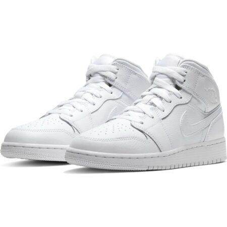 Зимние Nike Air Jordan 1 Retro High с мехом белые (36-45)