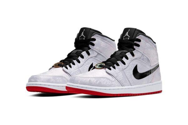 Nike Air Jordan 1 Mid 'Fearless Edison Chen серые мужские (40-44)
