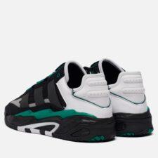 Adidas Niteball черные с зеленым кожа-нубук (40-44)