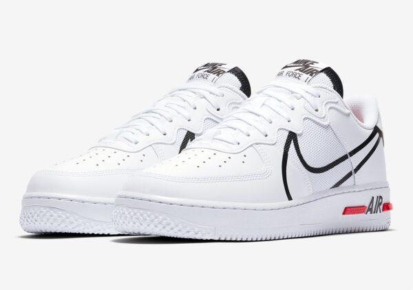 """Nike Air Force 1 React GS """"D/MS/X"""" белые кожа-нейлон мужские (40-44)"""