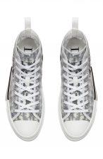 Dior B23 High Top logo Oblique белые мужские-женские (35-44)